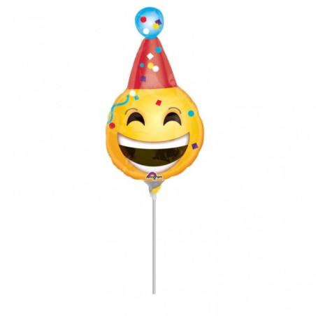 Balon mini figurina Happy Smiley Face