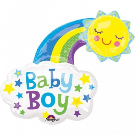 Balon folie figurina Curcubeu Baby Boy