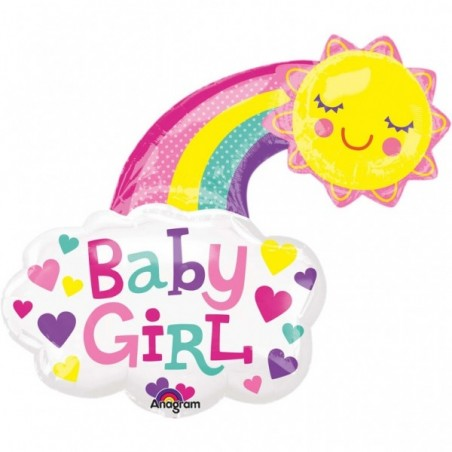 Balon folie figurina Curcubeu Baby Girl
