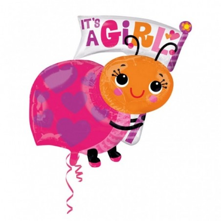 Balon folie figurina Buburuza It's a Girl