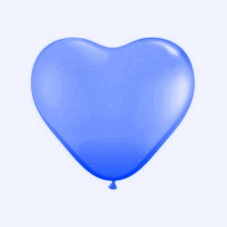 Set 100 baloane latex 25 cm inima albastru