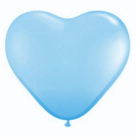 Set 100 baloane latex 25 cm inima bleu