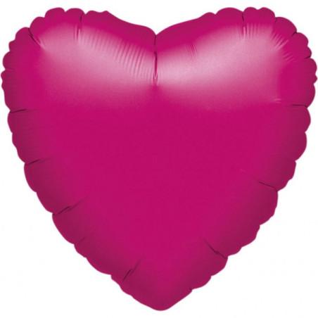 Balon folie 45 cm uni inima fuchsia