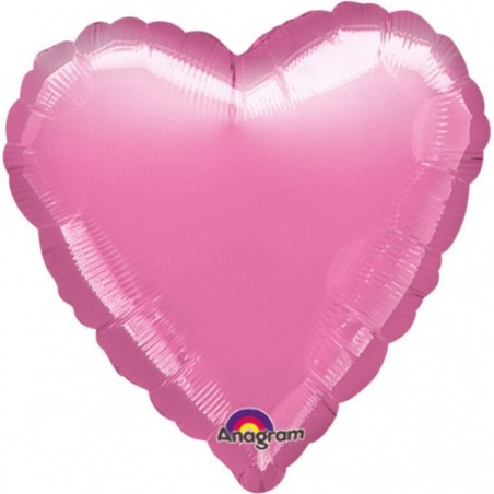 Balon folie 45 cm inima uni metalic lavanda