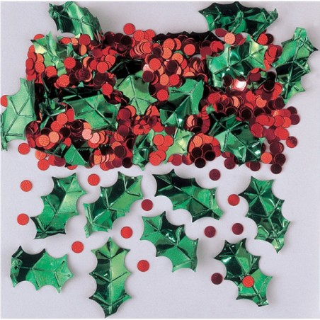 Confetti decor Holly Christmas