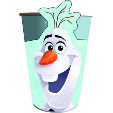 Set 8 pahare carton forma Olaf Christmas