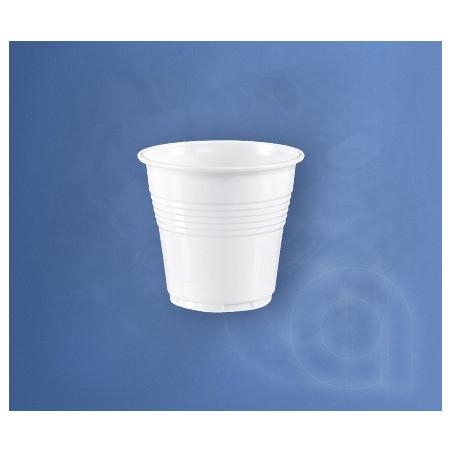 Set 50 pahare plastic albe 80 cc unica folosinta