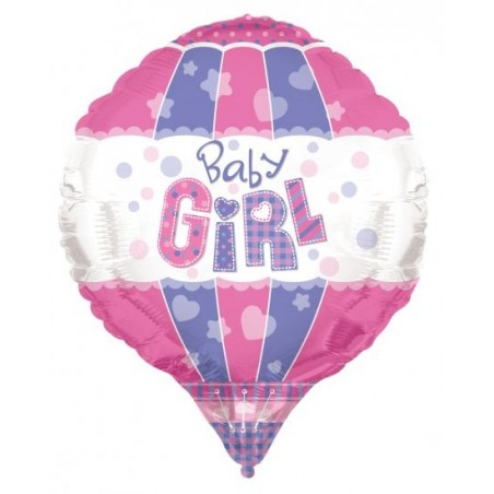 Balon folie aerostatic Baby Girl 3D