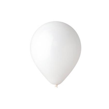 100 baloane rotunde albe standard