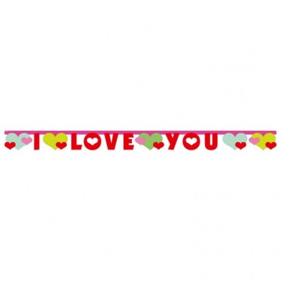 Banner litere I Love You
