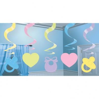 Set 5 spirale decorative Baby Shower