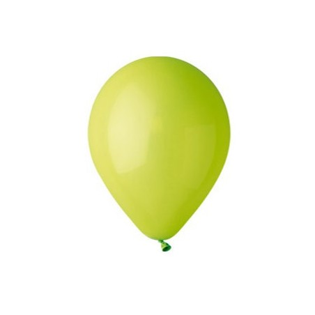 100 baloane rotunde verde-deschis standard