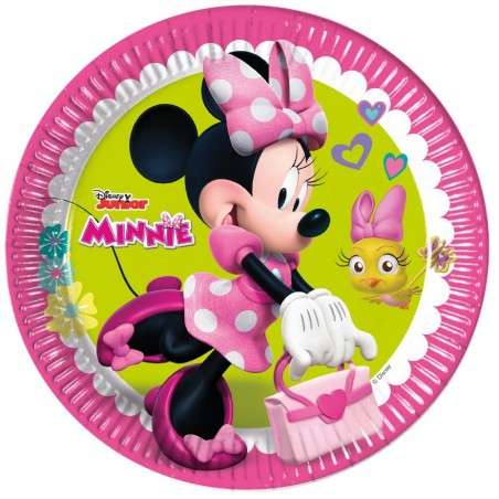 Set 8 farfurii party 23 cm Minnie Happy Helpers