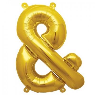 Balon folie figurina semn SI auriu