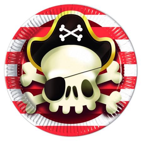 Set 8 farfurii carton 23 cm Powerful Pirates
