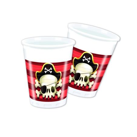 Set 8 pahare plastic Powerful Pirates