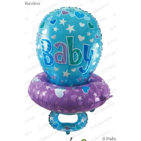 Balon folie figurina Suzeta Baietel