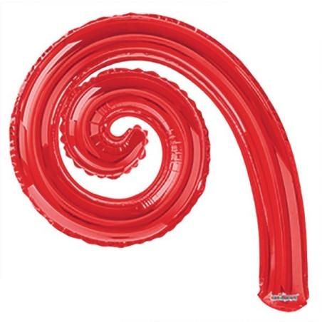 Balon folie spirala rosie 36 cm