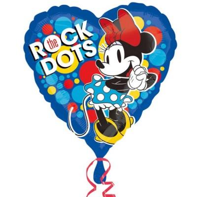 Balon folie inima 45 cm Minnie Rocks