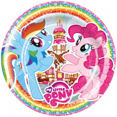Set 8 farfurii party carton 23 cm My Little Pony
