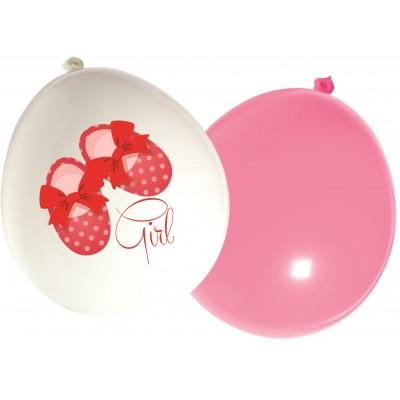 Set 16 baloane latex imprimate Botosei fetita