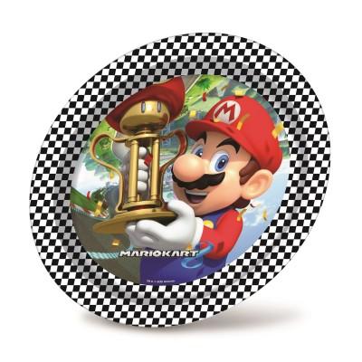 Set 8 farfurii party Super Mario 23 cm