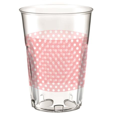 Set 8 pahare party buline roz 30 cl