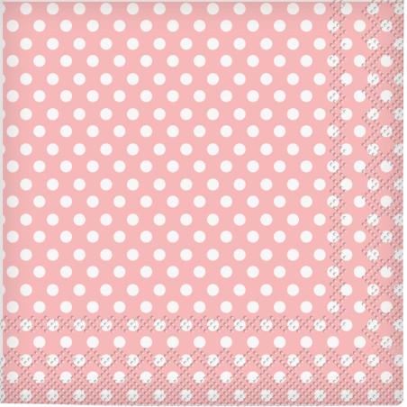 Set 20 servetele party buline roz