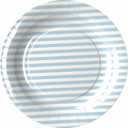 Set 8 farfurii party dungulite bleu 18 cm