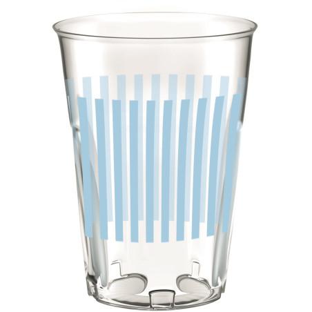 Set 8 pahare party dungulite bleu 30 cl