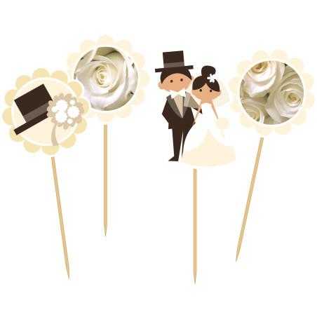 Set 24 scobitori decorative nunta Wedding