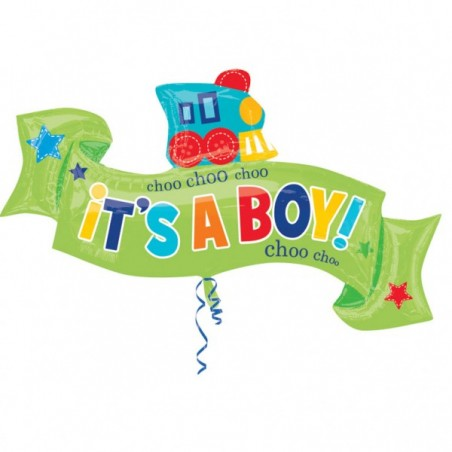 Balon folie figurina Trenulet Baby Boy