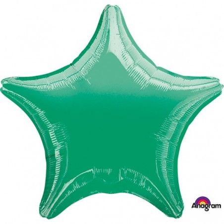 Balon folie 45 cm uni stea verde