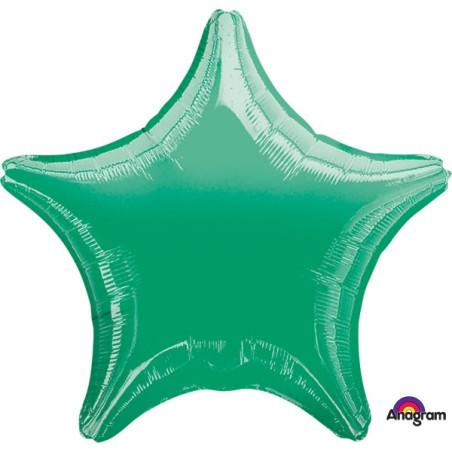 Balon folie 45 cm uni stea verde