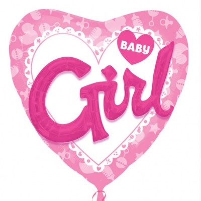 Balon multi folie inima Baby Girl