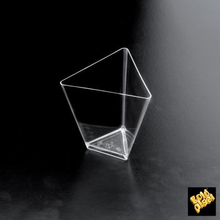 Set 25 cupe transparente forma triunghi 70 cc