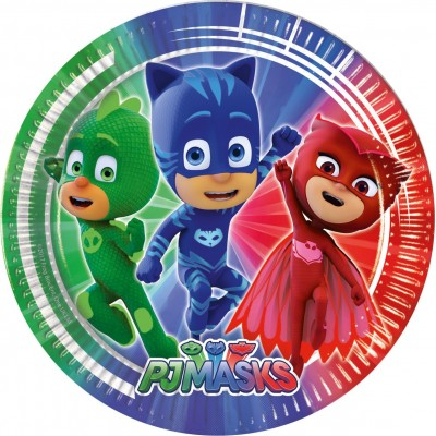 Set 8 farfurii party 23 cm PJ Masks