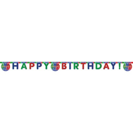 Banner Happy Birthday PJ Masks
