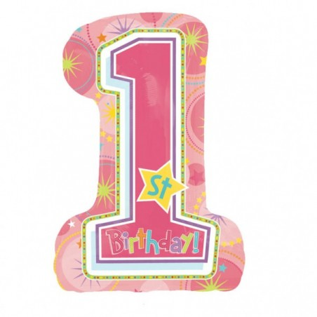 Balon folie figurina 1st Birthday Girl