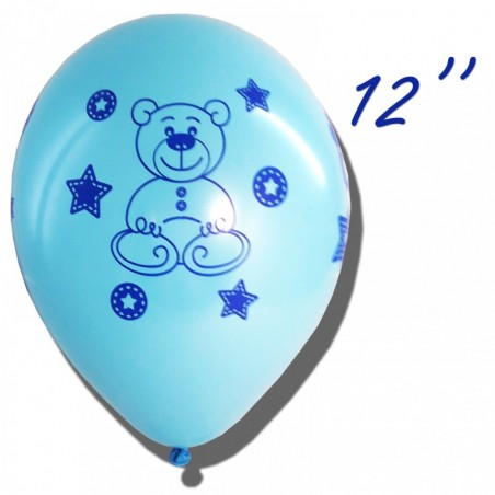 Set 100 baloane inscriptionate Baby Boy 30 cm