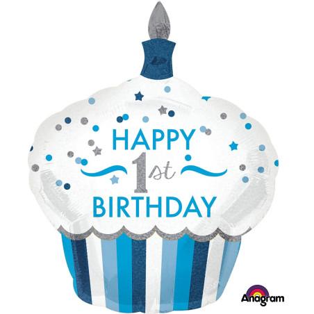 Balon folie figurina Prajitura 1st Birthday Boy