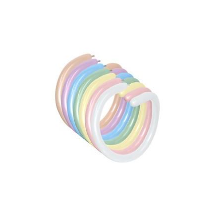 100 baloane modelaj asortate SATIN PEARL