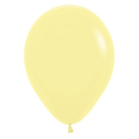 100 baloane 26 cm Pastel Galben