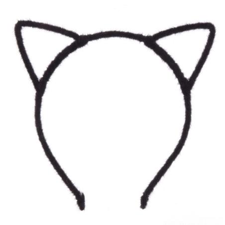 Coronita neagra pufoasa urechi pisica