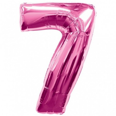 Balon folie figurina fuchsia cifra 7