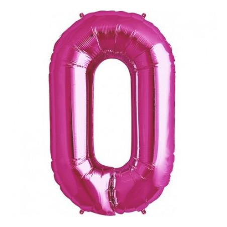 Balon folie figurina fuchsia cifra 0
