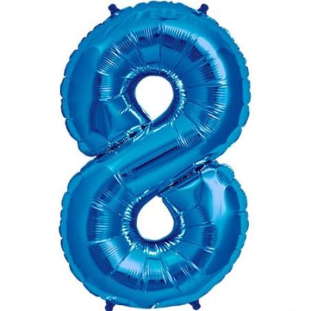 Balon folie figurina blue cifra 8