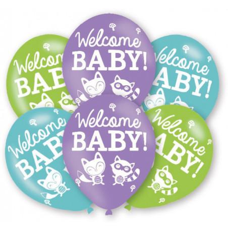 Set 6 baloane party Welcome Woodland