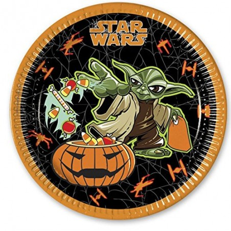 Set 8 farfurii party 23 cm Star Wars Halloween