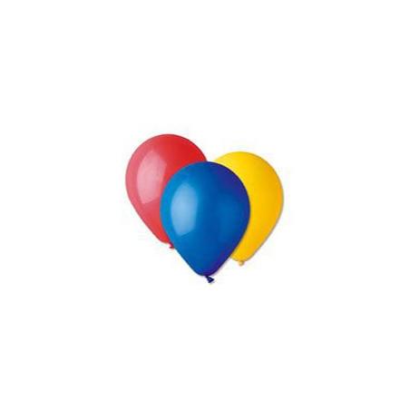 100 baloane rotunde asortate metalizate 30 cm